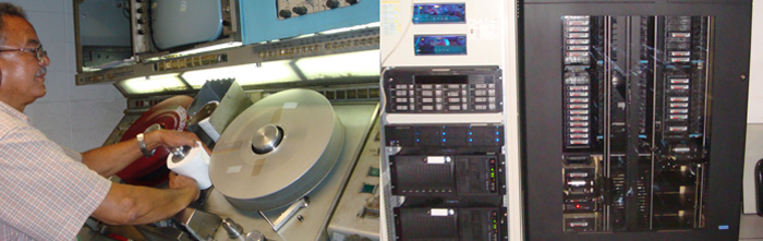 Maintenance of the Ampex machines, and robotics with the LTO tape drives that receive the digitized files